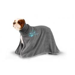 Župan pro psy SHOW TECH z mikrovlákna - šedý