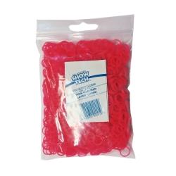 Latexové gumičky SHOW TECH na top knot růžové 0,8cm - 1000ks