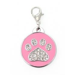 Přívěsek na obojek PAW DOG růžový