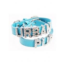 Obojek pro psy URBAN PUP Personalised modrý