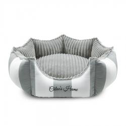 Pelíšek pro psy MONTE CARLO šedý