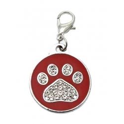 Přívěsek na obojek PAW DOG červený
