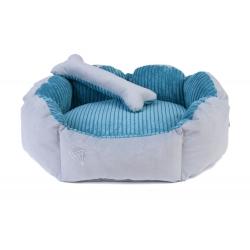 Pelíšek pro psy DIANA 55x50cm modro-šedý