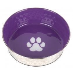 Nerezová miska pro psy SHOW TECH fialová 400ml