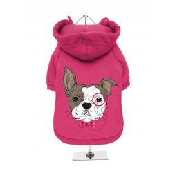 Mikina pro psy URBAN PUP French Bulldog růžová