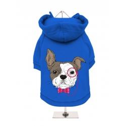 Mikina pro psy URBAN PUP French Bulldog modrá