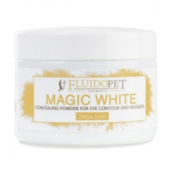 Krycí bílý pudr na srst FLUIDOPET MAGIC WHITE 50ml