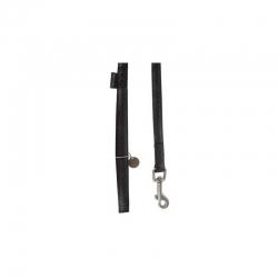 Vodítko pro psy MAC LEATHER černé 20mm x 1,2m