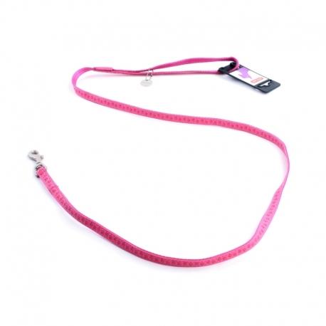 Vodítko pro psy MAC LEATHER růžové 15mm x 1,2m