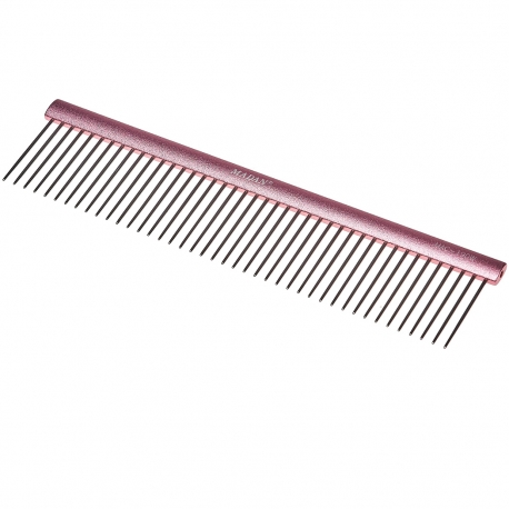 Hřeben pro psy MADAN PROFESSIONAL LIGHT 19cm růžový