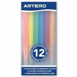Barvy v tužce pro rozlišení štěňat ARTERO COLORS WATERCOLOR PENS 12ks