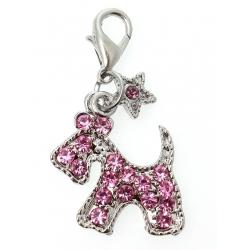 Přívěsek na obojek pro psy DIAMANTE SCOTTIE pink