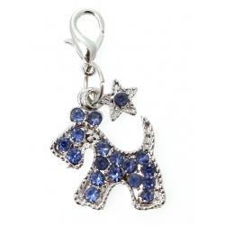 Přívěsek na obojek pro psy DIAMANTE SCOTTIE blue