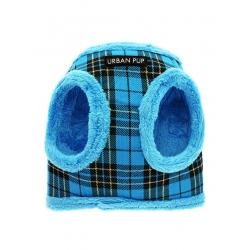 Postroj pro psy zateplený URBAN PUP LUXURY FUR LINED blue