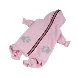 Kombinéza šusťáková pro psy REFLEX sv.růžová