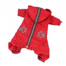 Kombinéza šusťáková pro psy REFLEX červená