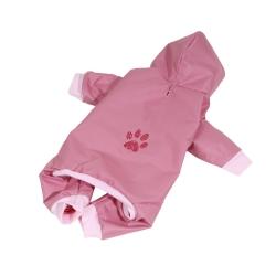 Kombinéza šusťáková pro psy PAW růžová
