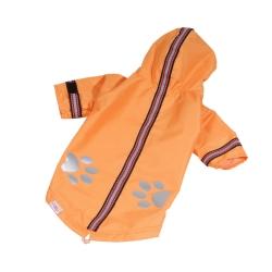 Bunda šusťáková pro psy oranžová