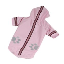 Bunda šusťáková pro psy REFLEX sv.růžová