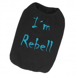Tričko I'm Rebel pro psy - černé