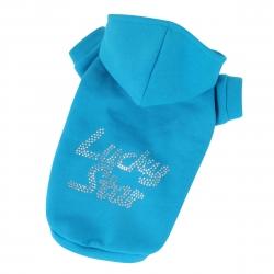 Mikina pro psy LUCKY STAR modrá