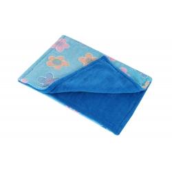 Cestovní deka pro psy COLOR modrá vzor