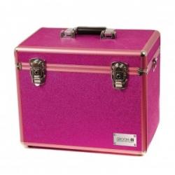 Kufr Groom-X tm.růžový kadeřnický