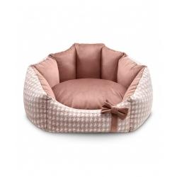 Pelíšek pro psy GLAMOUR LUXURY růžový