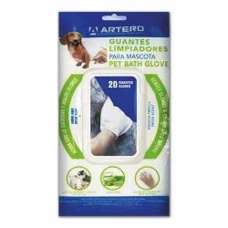 Vlhčené ubrousky/rukavice na čištění srsti ARTERO PET BATH GLOVE 20ks