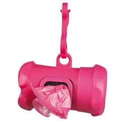 Zásobník na sáčky na psí exkrementy POOP růžový