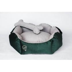 Pelíšek pro psy DIANA 55x50cm lahvově zelená